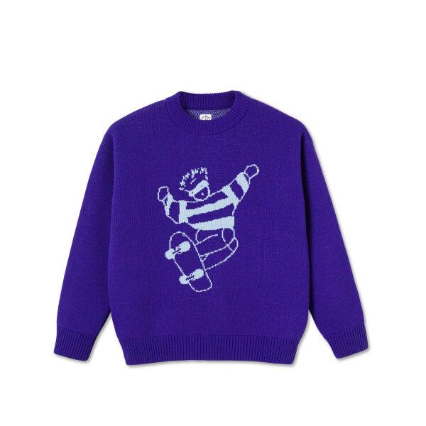 Polar Skate Dude knit sweater Purple